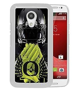 Beautiful Designed Case With Oregon Ducks 03 White For Motorola Moto G 2nd Generation Phone Case