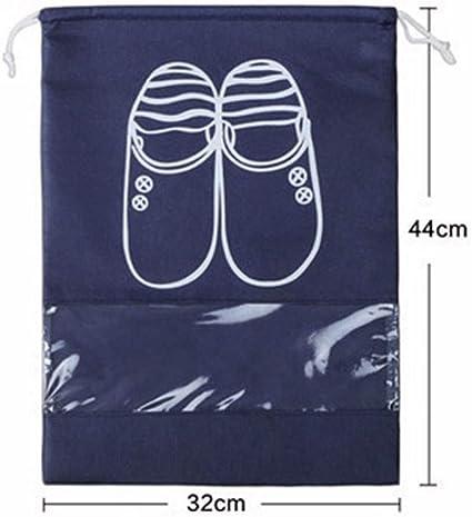 10Pcs Travel Shoe Bag View Window Pouch Storage Organizer Drawstring Bags Set
