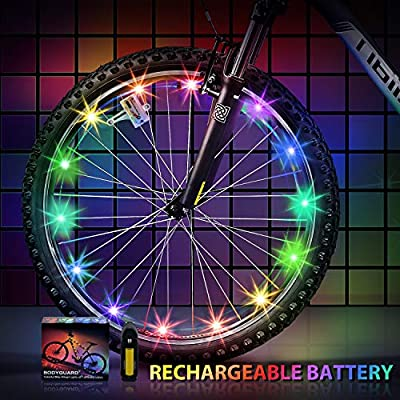 Bodyguard Newest 2019 Bike Wheel Lights Auto Discolorate, Keep Safe and More Attractive