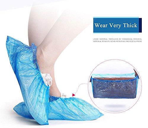 Rys Disposable Shoe Covers Non Slip 100 Piece Blue