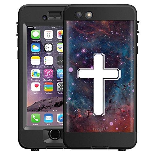 Skin Decal for LifeProof nüüd Apple iPhone 6 Plus Case - Cross on Nebula Glaxy