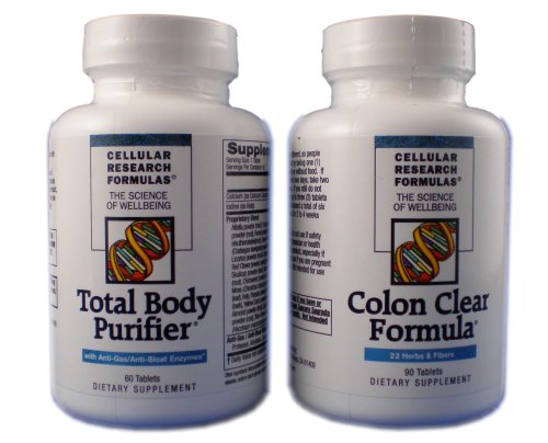 Cellular Research Formulas - Dual-Action Cleanse - 60 Tabs Total Body Purifier + 90 Tabs Colon Clear (Action Tabs)