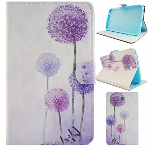 Galaxy tab 3 7.0 T210 case,UUcovers Stand Wallet Case [Money/Card Slots ] Cover for Samsung Galaxy Tab 3 7.0 T210/T217/P3200/P3210 (Purple Dandelion)