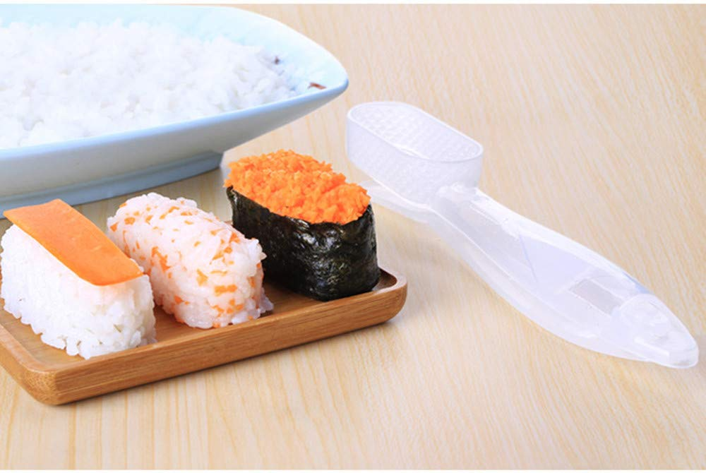 Amazon.com: Gessppo Sushi Mold Rectangular Rice Ball Shaker for Baby DIY Lunch Maker Sushi Maker Press Mould: Home & Kitchen