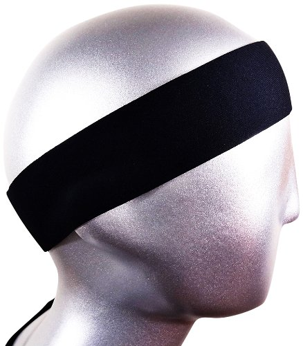 Bondi - Cinta para la cabeza de 2 pulgadas, resistente a la humedad, color negro, ideal para correr, caminar, crossfit,...