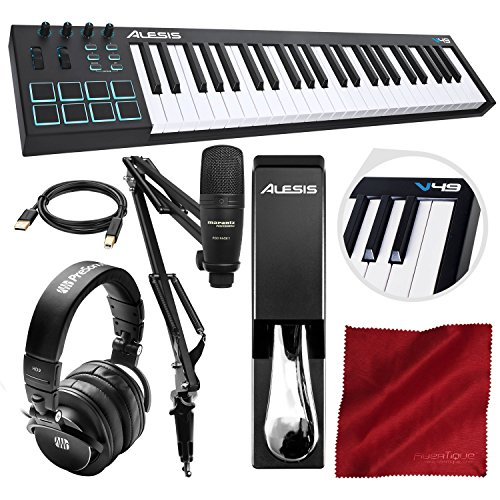 - Alesis V49 49-Key MIDI Keyboard & Drum Pad Controller with Marantz Pod Pack 1 Broadcasting Kit, PreSonus Headphones, Sustain Pedal and Platinum Bundle
