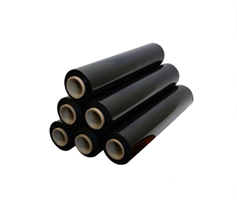 Robuste rotoli di pellicola termoretraibile nera per imballaggi di pallet