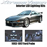 XtremeVision Ford Probe 1993-1997 (7 Pieces) Cool White Premium Interior LED Kit Package + Installation Tool