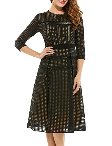 ANGVNS Womens Casual Sleeve Plaid