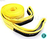 SKEMiDEX---New 2'' x 20' Tow Strap with Nylon Webbing 10,000 lbs for Chain Block. 2 hooks with spring safety lock. More durable, up to four times more cut and tear resistant