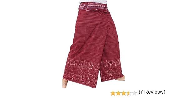 RaanPahMuang Brand Striped Cotton Japanese Samurai Belt Wrap Pants variant16090AMZ