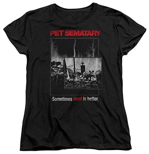 Womens: Pet Semetary - Cat Poster Ladies T-Shirt Size (Lg Pet Toy)
