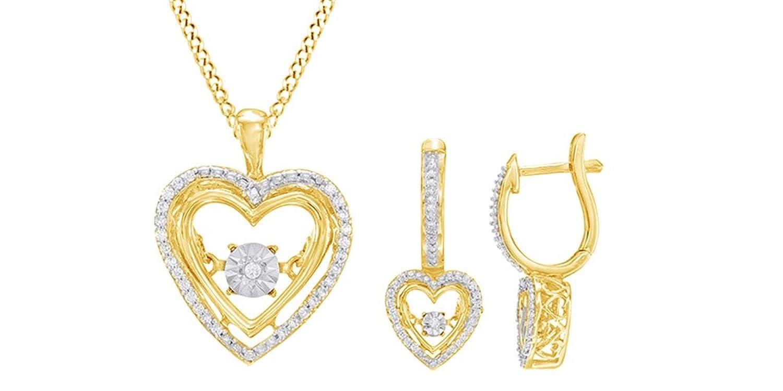 Miracle Drop Earrings in Sterling Silver /& 14K Gold
