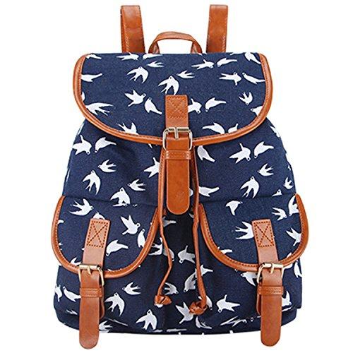 Toping Fine School Bag Bohemian Vintage Women Backpack Draws