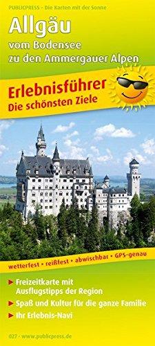Allgäu - vom Bodensee zu den Ammergauer Alpen: Erlebnisführer mit Informationen zu Freizeiteinrichtungen auf der Kartenrückseite, wetterfest, ... GPS-genau. 1:150000 (Erlebnisführer / EF)