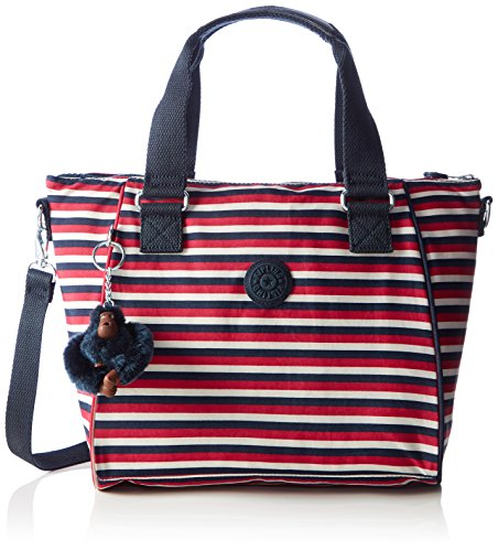 Kipling Womens Amiel Top-Handle Bag Multicolour (Sugar Stripes)