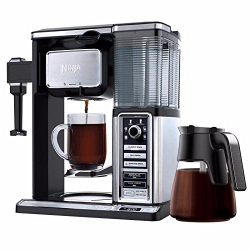 Ninja Auto-IQ Coffee Maker Brewer Bar with Glass Carafe System - CF092 (Renewed) (Ninja Single Serve Coffee Bar System With Tumbler)