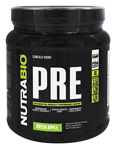 NutraBio - PRE Workout Green Apple - 504 Grams