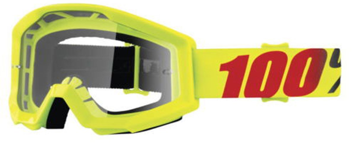 100% Strata Adult Off-Road Goggles - Mercury/Clear Lens/One Size