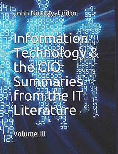 Information Technology & the CIO: Volume III PDF