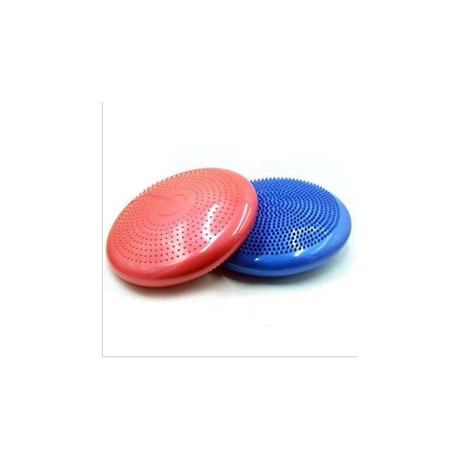 KINGZHUO 11.8 Inch Core Balance Disc Soft Inflatable Yoga Pilates Massage Cushion Mat Ball Wheel Pad