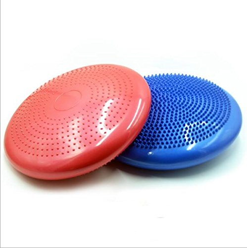 KINGZHUO 11.8 Inch Core Balance Disc Soft Inflatable Yoga Pilates Massage Cushion Mat Ball Wheel Pad