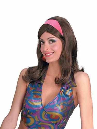 Forum Novelties 60s Go-Go Brown Adult Wig