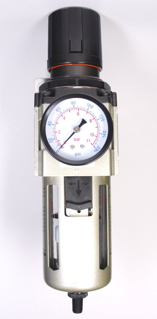 Automatic Drain 3/8' NPT 4000 L/min Air Filter/Regulator with Gauge/Bracket MettleAir