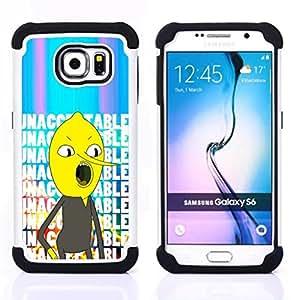 For Samsung Galaxy S6 G9200 - unacceptable text comic character Dual Layer caso de Shell HUELGA Impacto pata de cabra con im????genes gr????ficas Steam - Funny Shop -