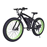 Goplus 26'' Electric Mountain Bike Snow Beach Bicycle Fat Tire Bike w/ Lithium Battery 36V 350W E-bike