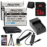 Olympus Tough TG-1 iHS Digital Camera TWO LI-90B Batteries + Wall Charger with Car Charger Adapter + 32GB SDHC + USB Card Reader + Memory Card Wallet + Deluxe Starter Kit DavisMAX LI90B Battery Charger Bundle