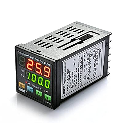 Mypin® Professional Digital PID Temperature Controller 250V/3A AC, 30V/3A DC DIN 1/16 Dual Display for F/C?7 Different Dual Output modes?Accuracy: 0.2%