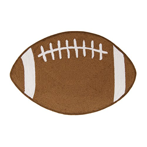 C&F Home Hooked Football Sports Rug, Brown ()