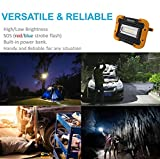 Rechargeable LED Work Light Outdoor Camping Light, YKDtronics Portable Worklight with Built-In Rechargeable Battery Power Bank, With Dimmable Brightness and SOS Mode (red&blue flash emergency light)