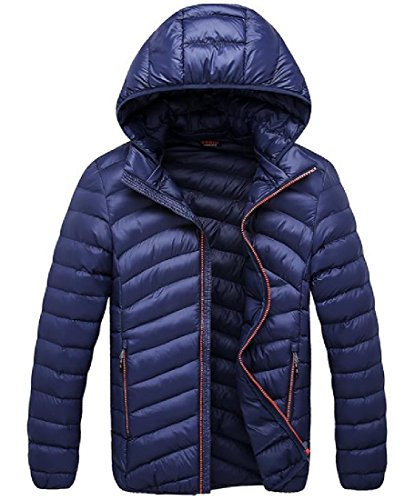 AngelSpace Down Warm Parka 7 Cozy Pockets Cardigan Hooded Men's Casual Zip rCqwUrSt