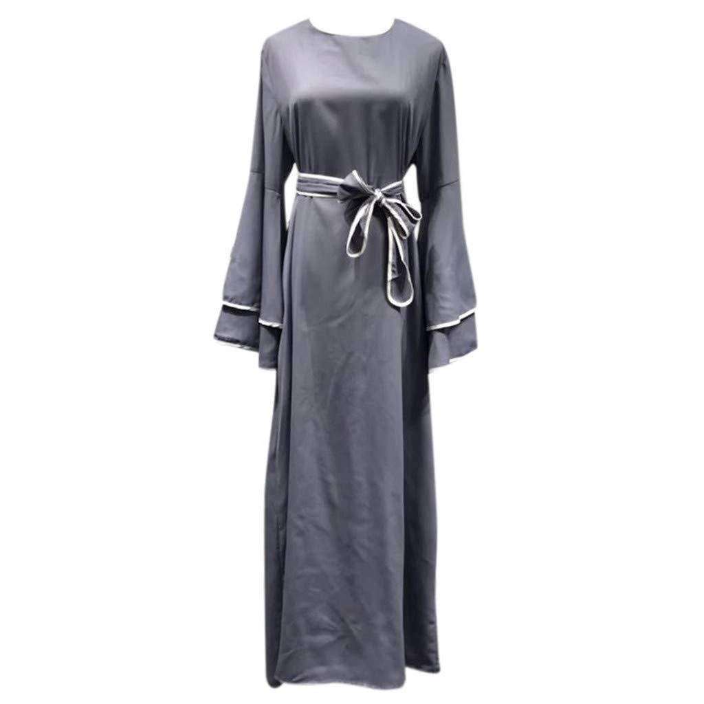Eruption_X  Women's Summer Casual Loose Striped Long Dress Short Sleeve Maxi Dress Black