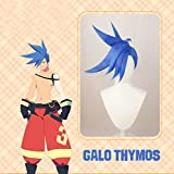 Galo Thymos Wig Promare Cosplay Wigs Short Blue Wig Anime Make up Accessories