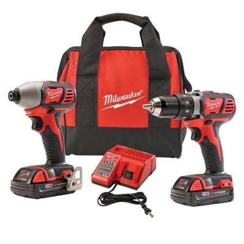 Milwaukee 2691-22 18-Volt Compact Drill and Impact Driver Combo Kit (Compact Milwaukee)