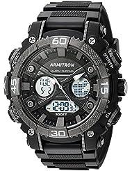 Armitron Sport Mens 20/5108BLK Analog-Digital Chronograph Black Resin Strap Watch