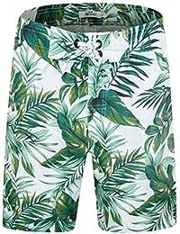 33ec65072f8f0 Men's Swim Trunks Quick Dry Board Shorts Beach Holiday Swimwear Print  Bathing Suits with Mesh Lining