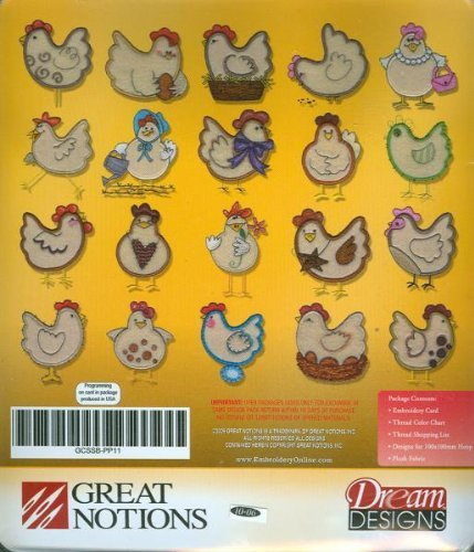 Oesd Designs Embroidery - Embroidery Machine Designs CD PLUSH CHICKENS + FABRIC