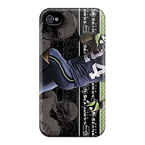 Iphone 4/4s Bft14833UdzJ Custom High-definition Seattle Seahawks Skin Shock Absorbent Hard Cell-phone Case -InesWeldon