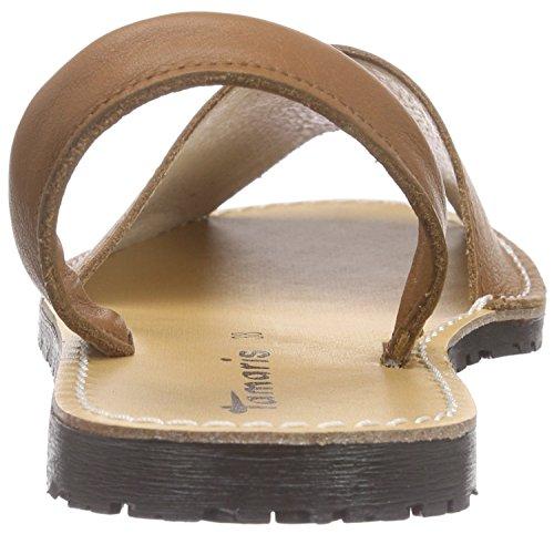 Tamaris 28916, Sandalias Planas Mujer Beige (Cuoio 455)
