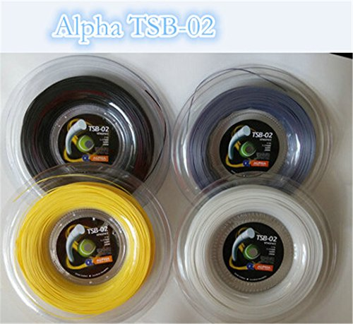 Taiwanrns Top Selling Alpha Vengeance Polyester Tennis String Tsb-02 /Polyester Strings/Tennis Racket/Tennis Racquet Black
