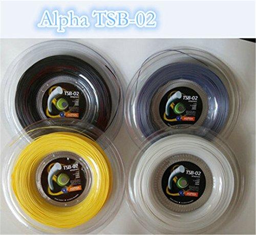 Taiwanrns Top Selling Alpha Vengeance Polyester Tennis String Tsb-02 /Polyester Strings/Tennis Racket/Tennis Racquet Yellow