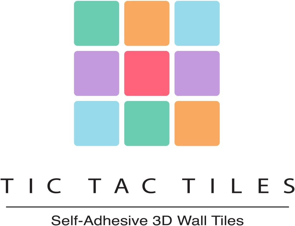 Tic Tac Tiles 10-Sheet 12 x 12 Peel and Stick Self Adhesive Removable Stick On Kitchen Backsplash Bathroom 3D Wall Sticker Wallpaper Tiles in Subway Gray