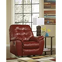 Alliston DuraBlend Contemporary Salsa Color Faux Leather Rocker Recliner