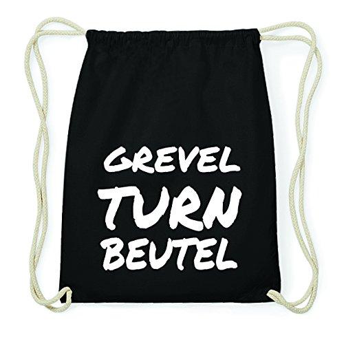 JOllify GREVEL Hipster Turnbeutel Tasche Rucksack aus Baumwolle - Farbe: schwarz Design: Turnbeutel reZsfb452