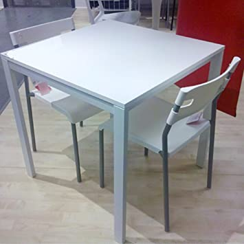 Amazon - Ikea Table and  Chairs Set White Dining Kitchen