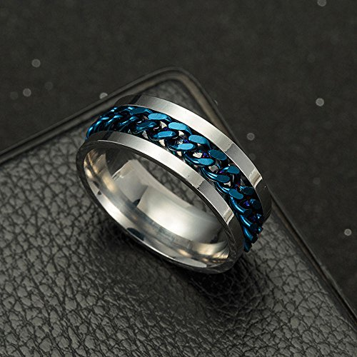 Discountsday Men's Titanium Steel Chain Rotation Ring Cross Border Jewelry Ring Set for Best Friends Promise (BU6) by Discountsday (Image #3)